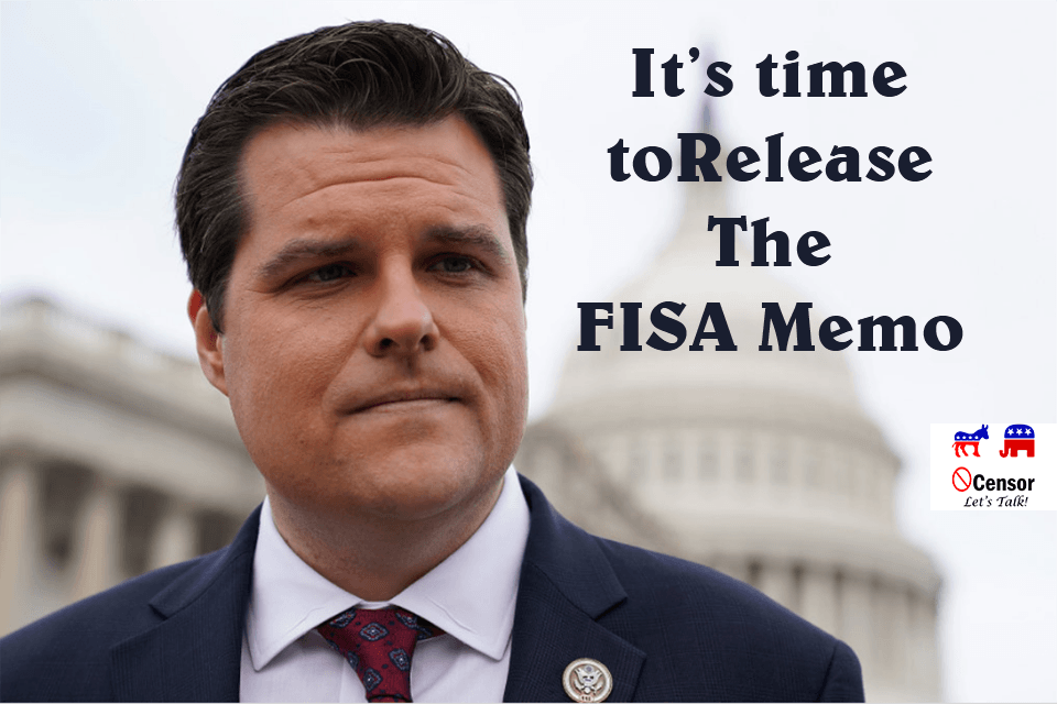 Release The FISA Abuse Memo
