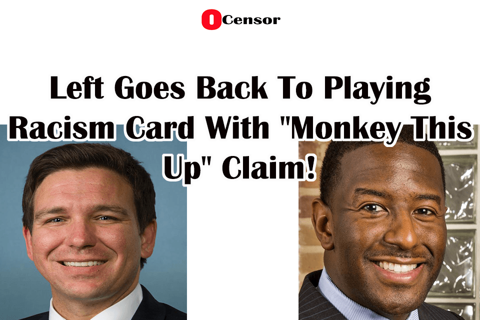 "Left Goes Back To Playing Racism Card With ""Monkey This Up"" Claim!"