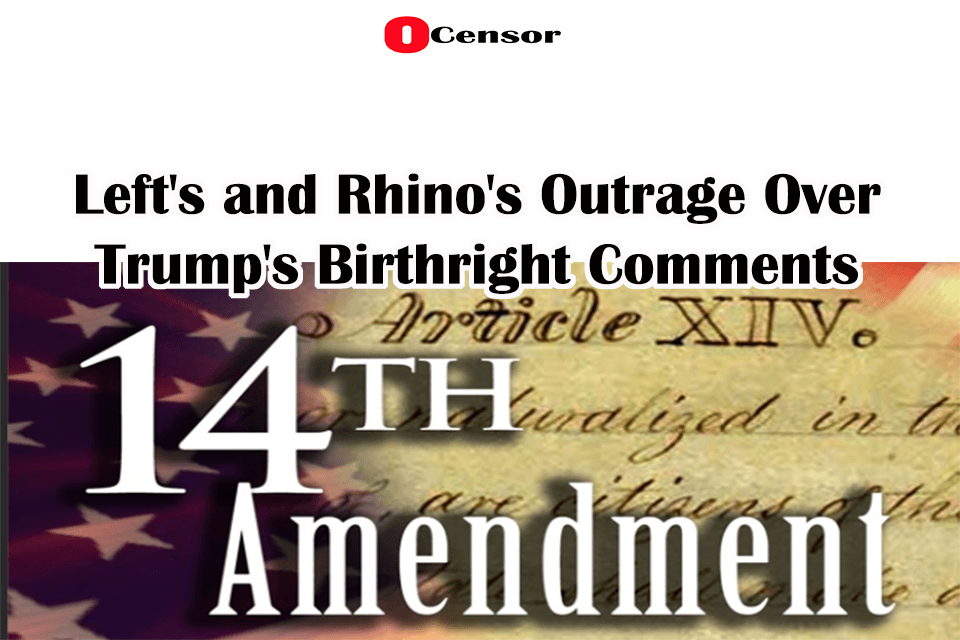 Left's and Rhino's Outrage Over Trump's Birthright Comments