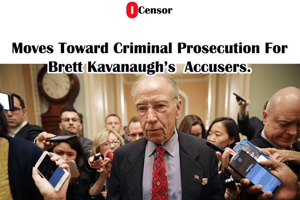 Moves Toward Criminal Prosecution For Brett Kavanaugh's  Accusers.
