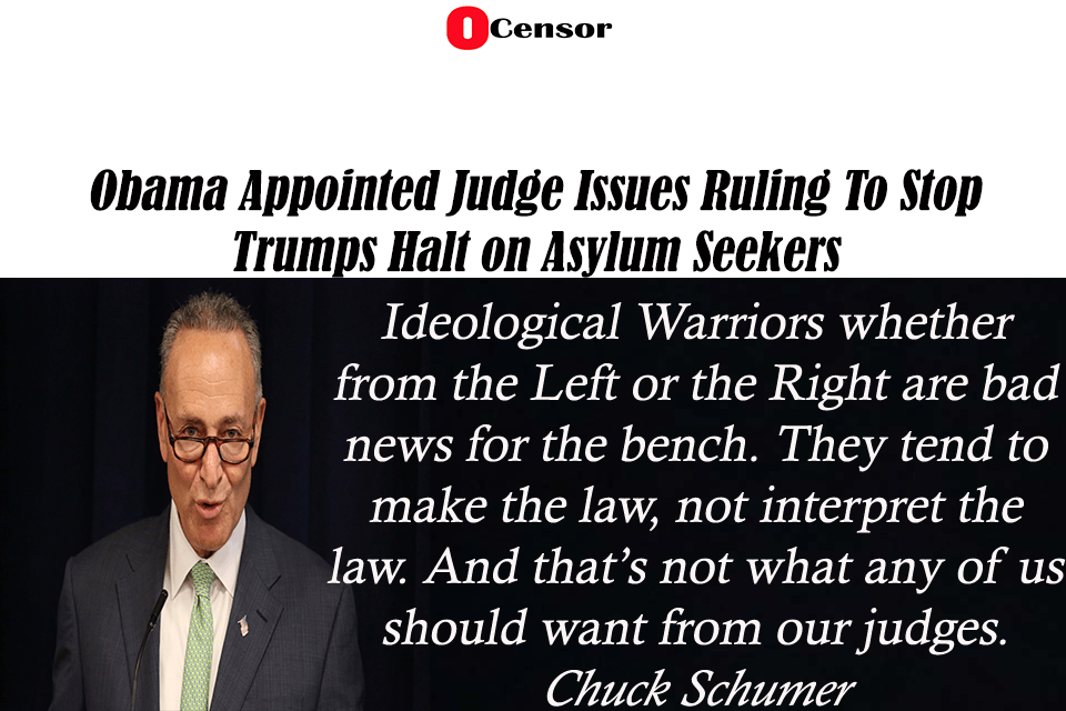Obama  Appointed Judge Issues Ruling To Stop Trumps Halt on Asylum Seekers