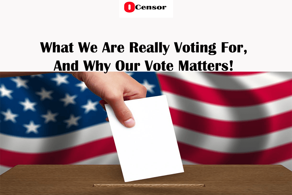 What We Are Really Voting For, And Why Our Vote Matters!