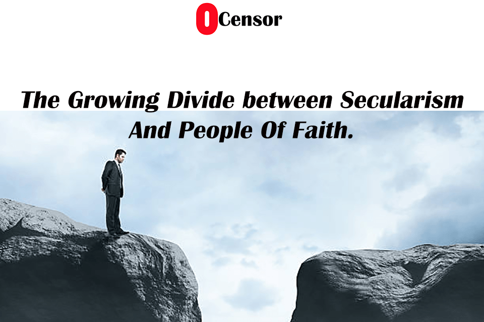 Seperation Growing Between People Of Faith And Of No Faith growing.