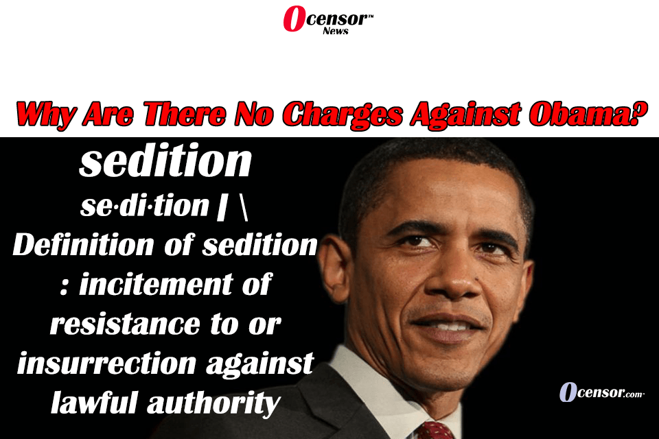 Why Are There No Charges Of Sedition Against Obama?