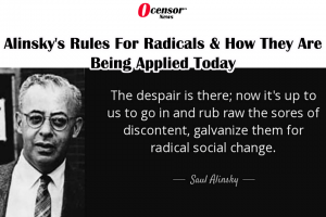 Today We See Alinsky's Rules For Radicals Being Applied
