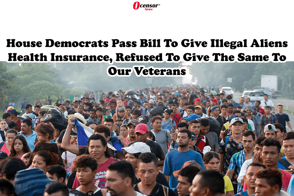 House Democrats Pass Bill To Give Illegal Aliens Health Insurance, Refused To Give The Same To Our Veterans