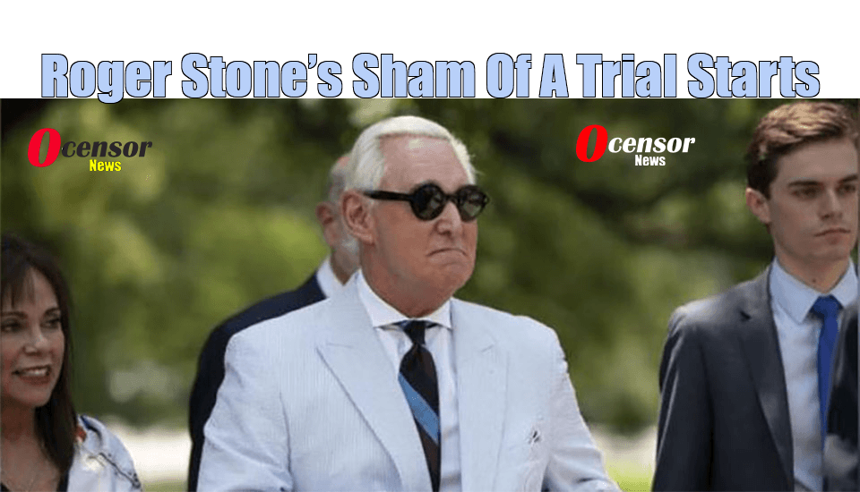 Roger Stone's Sham Of A Trial Starts