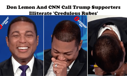 Don Lemon And CNN Call Trump Supporters illiterate 'credulous rubes'
