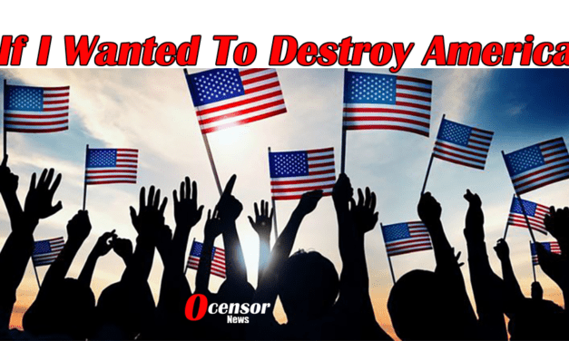 If I Wanted To Destroy America, I would…