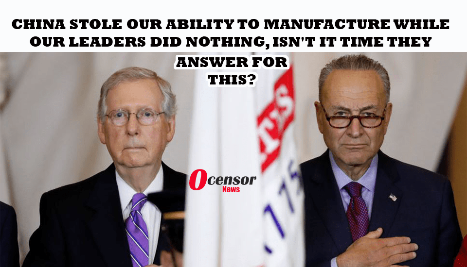 China Stole Our Ability To Manufacture While Our Leaders did Nothing, Isn't It Time They Answer For this?