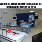 NEW YORK WHO IS BLAMING TRUMP FOR LACK OF Respirators, SOLD MANY OF THEIRS IN 2016
