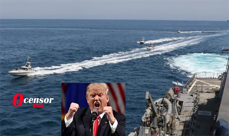 """Trump Orders Navy, """"Destroy Any Iranian Ship that Harasses you!"""""""
